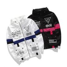 New Spring Autumn Men Windbreaker Jacket Male Brand Fashion Hip Hop Streetwear Thin Hooded Outwear US Size