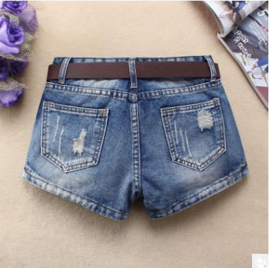 Denim Midi Distressed Shorts