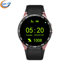 GFT KW88 3G Wifi Smart Watch Sim Android5.1 System Anti Lost Reminder Android Wear Connected Watch Heart Rate Monitor Watch