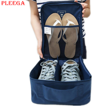 PLEEGA Brand Waterproof Portable Travel Women Shoe Bags Storage Flip Flop Shoes Organizer Bags Travel Luggage Travel Accessories