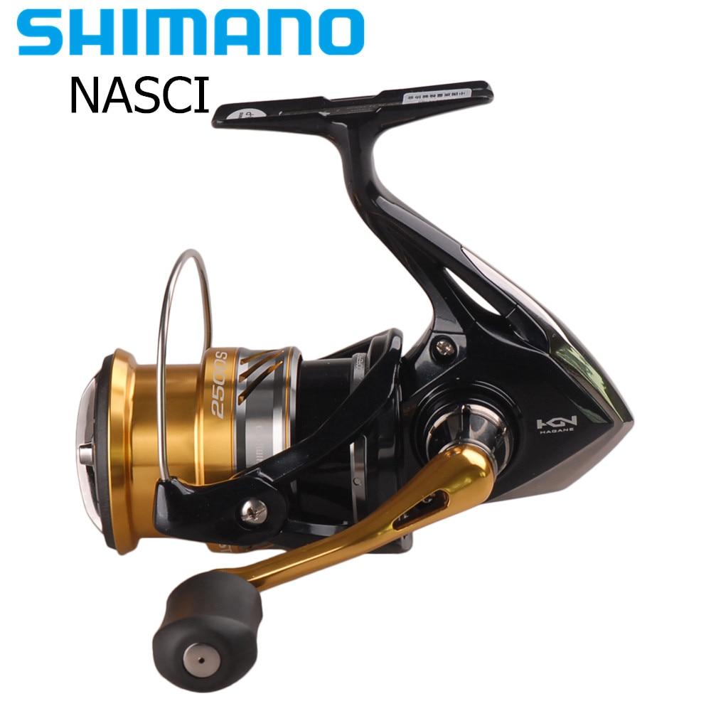 Shimano NASCI 1000-3000HG Spinning Angeln Reel 4 + 1BB Hagane Getriebe X-Schiff Salzwasser Lure Rollen Carretilha Moulinet Peche pesca