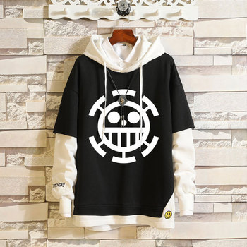Men Women Hoodis Anime One Piece Hoodie Pullover Hooded Long Sleeve Sweatshirt Sportswear Cosplay Outerwear Coats Hip-hop Jumper casual thick wool liner hip hop jackets men punk fashion coats long sleeve hooded clothes the superhero 3d print sweatshirt 2019