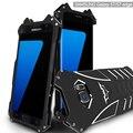 Novos casos de telefone para samsung galaxy s7/s7 edge plus metal Tampa de alumínio Filme Heroes O Cavaleiro Das Trevas Batman Bumper Caso Elemento