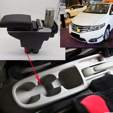 Car Armrest Central Store Content Storage Box For honda city Ballade 5th generation 2007 2008 2009 2010 2011 2012 2013 2014
