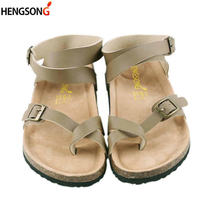 2018 Summer Fashion Unisex Lovers Women Sandals Flats Cork Gladiator Beach Shoes Slippers Zapatos Mujer Sandalias Plus Size 45 summer high quality women flats sandals plus size 34 43 new fashion casual ladies sandalias comfort mujer gladiator woman shoes