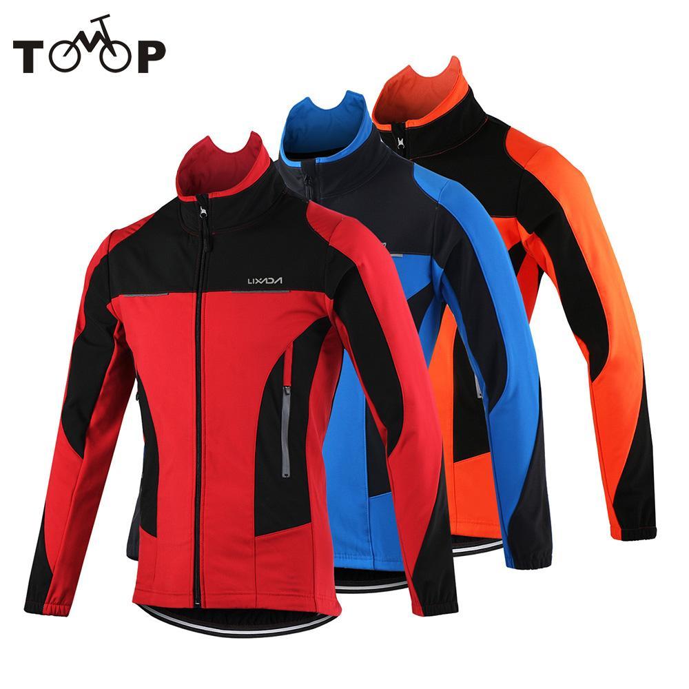 Winter Warm Up Bicycle Clothing Windproof Coat Lixada Men s Thermal Cycling Jacket MTB Bike Jersey