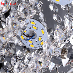 Image 5 - Modern Crystal Pendant Ceiling Lamp Led Lusters Luminaria For Balcony Entrance lamp Plafonnier Lighting Fixtures AC110 220V