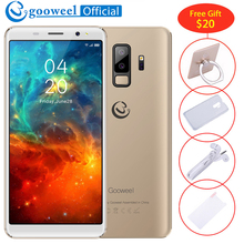 NEW Gooweel S9 Smartphone 5.72 inch 18:9 Screen MTK6580 Quad core Face ID mobile phone Dual Rear Camera unlocked 3G Cell phone