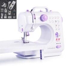 12 Stitchs ручной Вышивание машины портативный Вязание Электрический лапка педаль протектора перемотки русский ручной