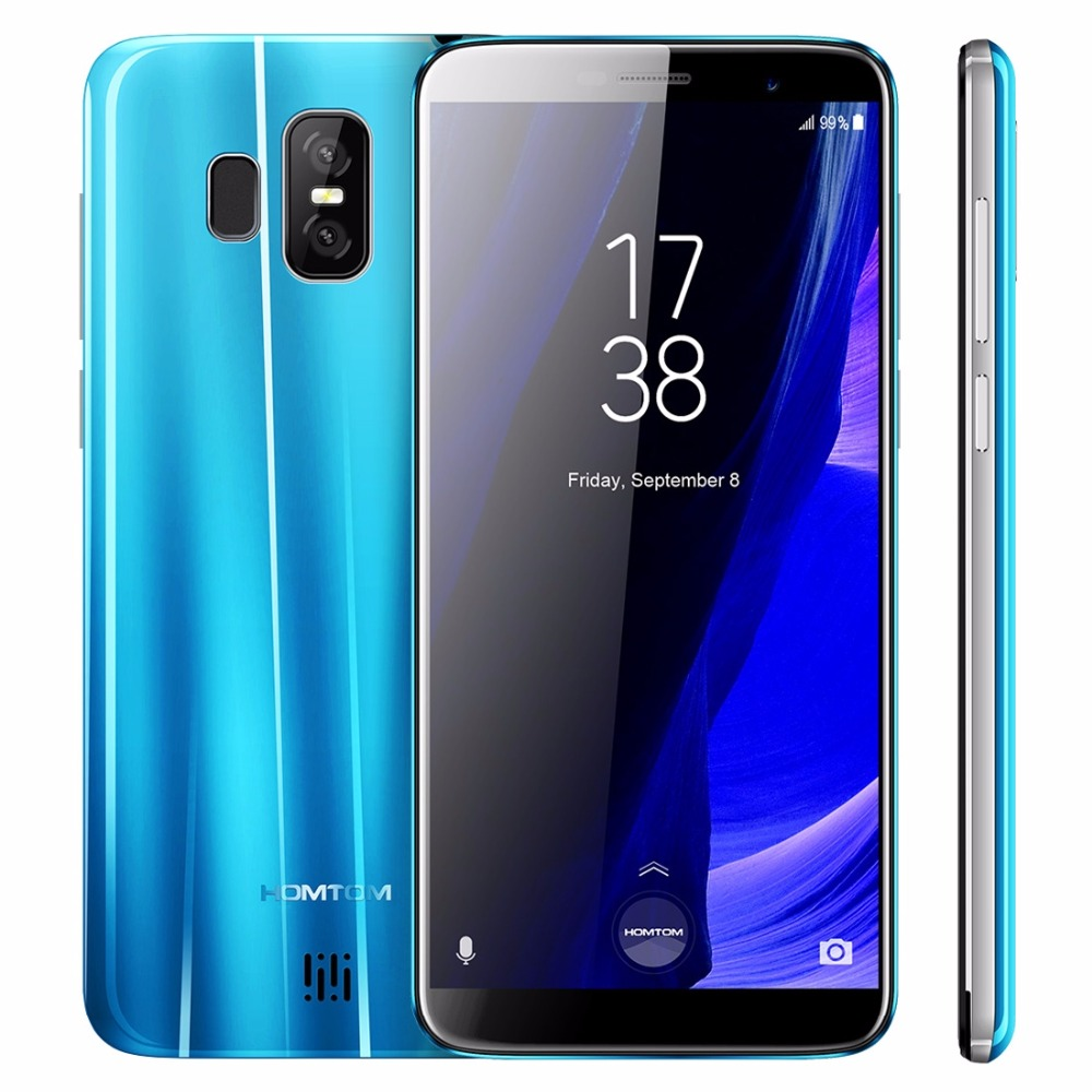 "HOMTOM S7 Smartphone 18:9 Aspect Ratio MTK6737 Ouad Core 5.5"" Fingerprint 3GB+32G 2900mAh Dual rear camera 13MP+8MP Mobile Phone"