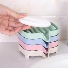 1 шт. Пшеничная солома портативная мыльница нетоксичный мыльница лоток мыльница для ванной комнаты кухонный душ