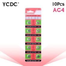 цена на YCDC 10x pilha ag4 alkaline button coin cells battery lr626 177 377a d377 gp377 sr626 1.55v pile watch batteries