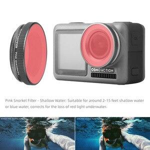 Image 5 - Für OSMO ACTION Kamera Filter Tauchen Rot Magenta Rosa Filter Für DJI Osmo Action UV ND4/8/16 /32 PL Optische Glas Objektiv Zubehör