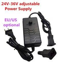 Регулируемый Питание адаптер 24 V, алюминиевая крышка, 25В 26 Вт 27 Вт 28V 29В 30V 31 32 33V 34V 35V 36V 1.5A преобразователь переменного тока в постоянный адаптер прямоугольные 2-контактный разъем