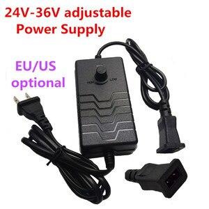 Image 1 - Adjustable Power Supply Adapter 24V 25V 26V 27V 28V 29V 30V 31V 32V 33V 34V 35V 36V 1.5A AC to DC Adapter Rectang 2 Pin Female