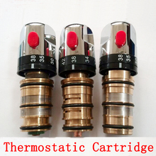 Bathroom shower faucet thread/top wire thermostatic cartridge, Brass thermostatic valve mixer for solar water heater