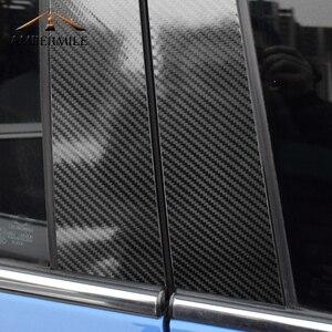 Image 3 - AMBERMILE for Mini Cooper F55 Countryman F60 Clubman F54 Accessories Carbon Fiber B Pillar Cover Trim Window Protection Stickers
