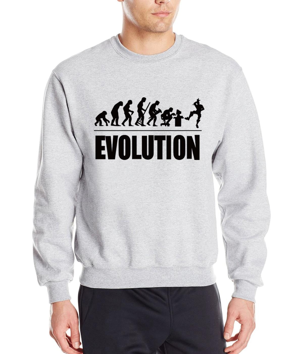 Evolution Funny Men Sweatshirt New 2019 Autumn Winter Punk Harajuku Style  Hoodies Hipster Men's Pullovers Long Sleeve Tracksuit