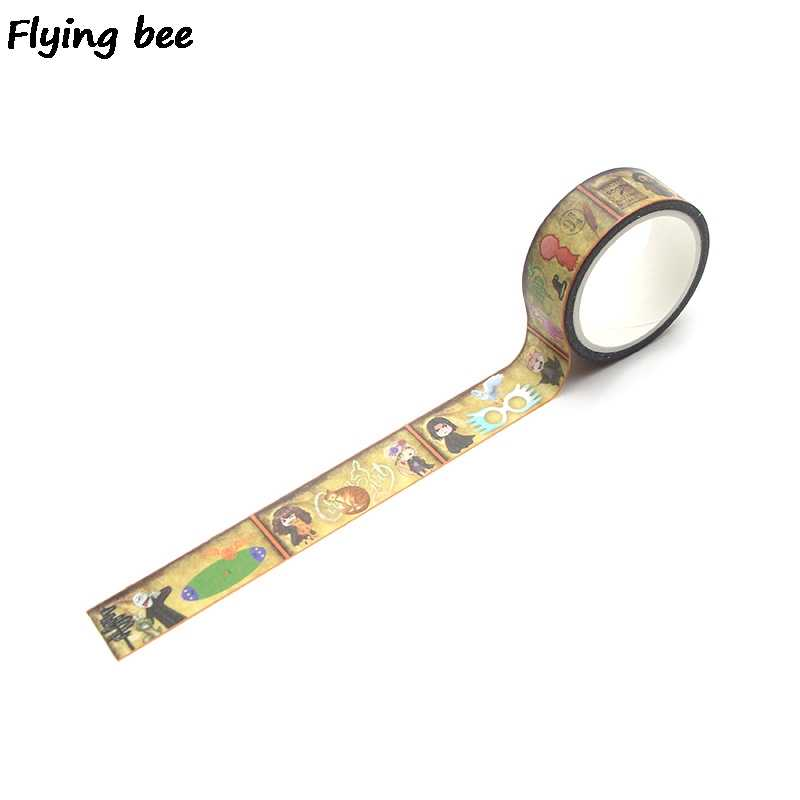 Flyingbee 15mmX5m Wizard Student Washi Tape Paper DIY Decorative Adhesive Tape Stationery Cool Masking Tapes Supplies X0288