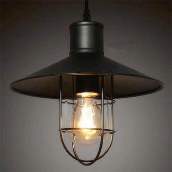 American chandelier Loft modern  aluminum  single head wrought iron restaurant bar retro industrial style pendant lamp