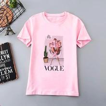 New Women's Summer Short Sleeve Ladies Clothes Vogue Princesas Pink T Shirt Harajuku Fashion Graphic Print Tees Aesthetic Tops princesas stickermania castillos de ensueno