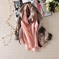 2016 моды бандана шелковый шарф люксовый бренд дизайнер шарф женщин змеиной печати Шали и шарфы теплая мягкая зима пончо