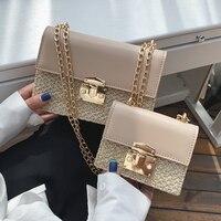 Маленькая квадратная сумка с откидной крышкой 2019 летняя модная Новая высококачественная Соломенная женская дизайнерская сумка с цепочкой ...