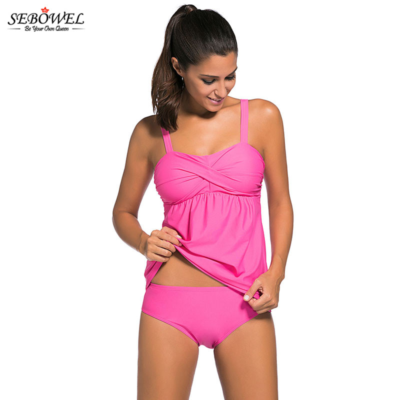 c5cc36f4ea1 SEBOWEL 2018 Sexy Camouflage Prin Tankini Swimsuit Women Backless Plus size  2 pcs Swimwear Bathing Suit