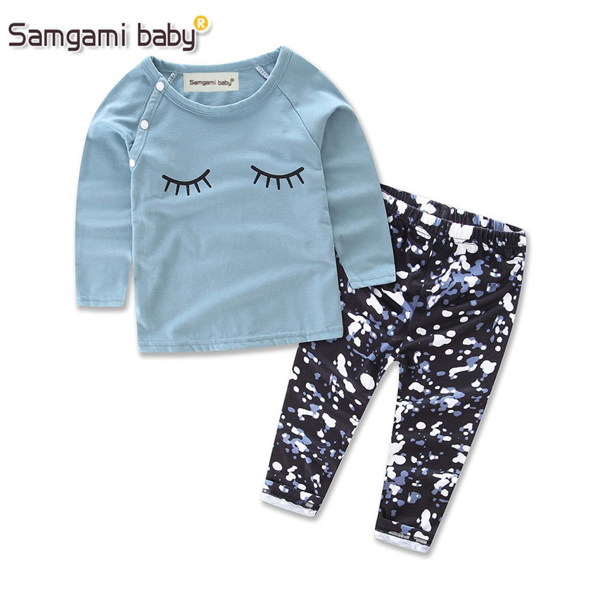 samgami baby retail ins kids clothesgirls clothing suit With the letter clothing