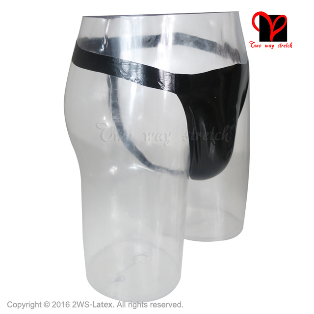 Black Sexy Latex Jockstrap Pouch Slip Jock Strap Briefs Pants Rubber Shorts Bottoms Underpants knicker G String