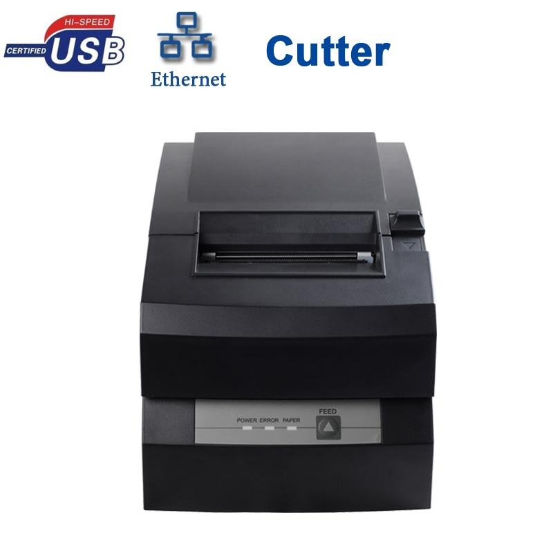 With cutter usb serial lan port dot matrix printer HS-D76USLC