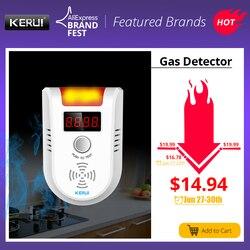 KERUI GD13 gazu LPG detektor alarmu bezprzewodowy cyfrowy wyświetlacz LED nieszczelności wykrywacz gazów palnych dla system alarmowy w domu