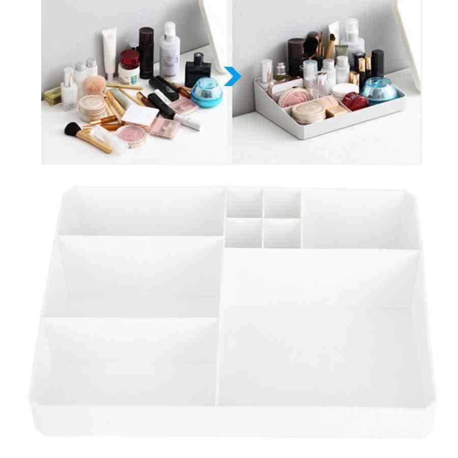 Multi-functional Desktop Makeup Organizer Lipstick Blush Eyeshadow Brushes Holder Nail Art Tools Accessories Container