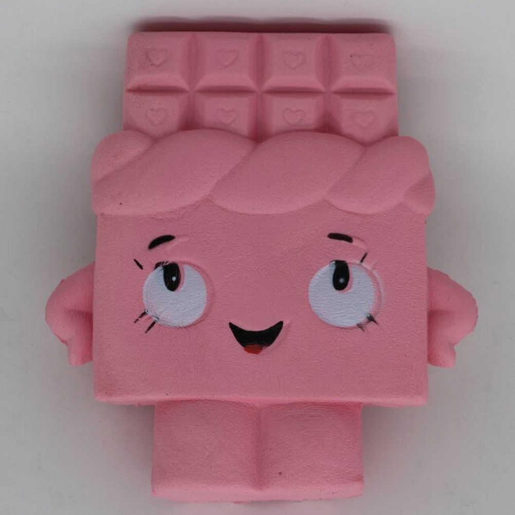 13 cm Jumbo Chocolate Boy Gadis Licin Lambat Naik Wangi Lembut Hadiah Mainan Menyenangkan