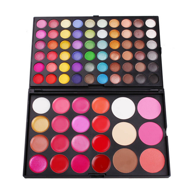 82 Hot Colors New Women Pro Cosmetic Makeup 60 Shimmer Eyeshadow 6 Concealer 3 Flush & 16 Lip Gloss Make Up Quality Assurance