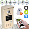 Wireless WiFi Doorbell Video Intercom Remote Unlock IR Night Vision Door Ring Remote Controller IOS Android App
