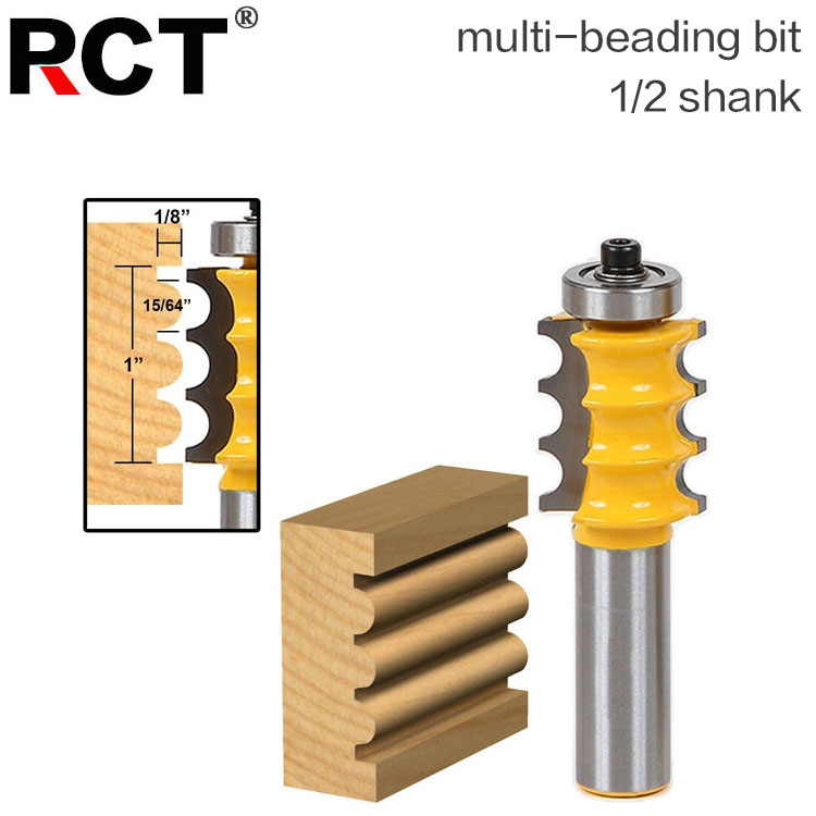 1pc 1/2 Shank Triple Bead/ Column Molding Router Bit Line knife Woodworking cutter Tenon Cutter for Woodworking Tools 1pc 1 2 shank crown molding router bit extender tenon cutter for woodworking tools