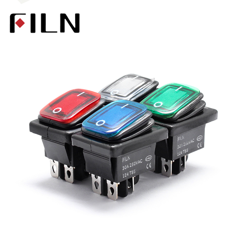 1pc 36*29mm 250v Spst 4 Pin Waterproof Boat Rocker Switch For Industrial Vacuum Cleaners With Waterproof Cover Home Appliance Parts