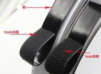 2 см * 25 м клей крепежной ленты крюк и петля липкий назад крепежа лента белый или черный клей Sticky ремни