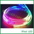 144 LEVOU SMD 5050 RGB digital programável full color tira conduzida DC5V APA102, apa102c fita de led para decoração