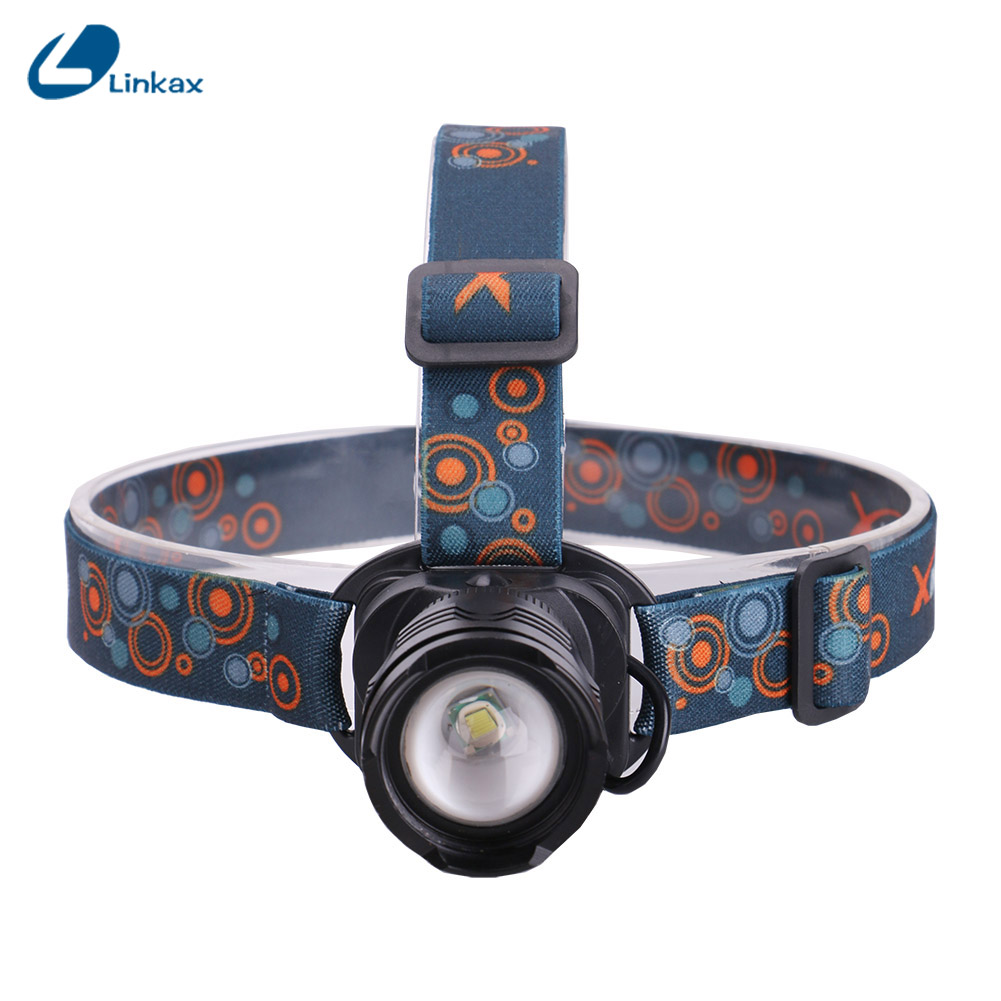 Xml T6 Rechargeable Led Headlamps Ultra Bright Aluminum