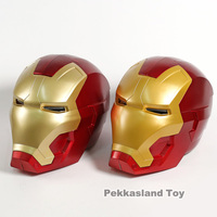 Full Metal 1/1 Scale Remote And Manual Iron Man Mask for Child Helmet 1:1 Wearable Tony Stark Cosplay Mask Prop LED Light Eyes