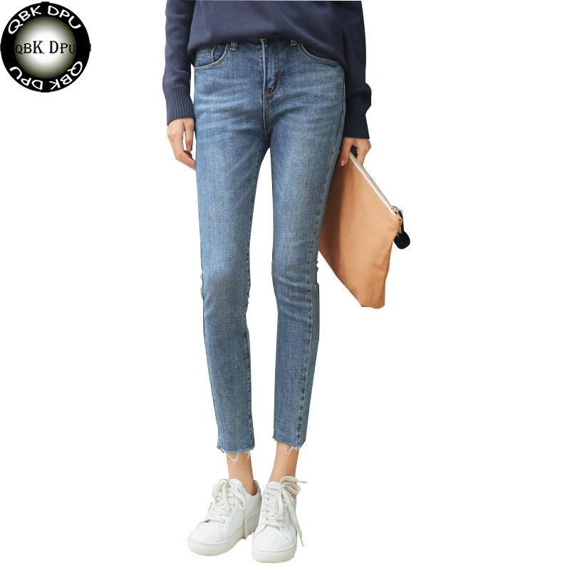 Skinny Slim Jeans For Women Vintage Style Black Women's Jeans Female Denim Pencil Pants Stretch Korean Jeans For Woman Summer