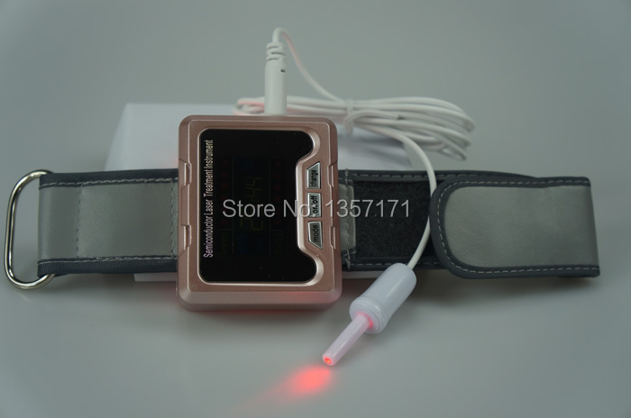 Red laser light therapy to reduce high blood pressure wrist watch type blood pressure regulator laser acupuncture laser wrist watch laser treatment therapeutic instrument