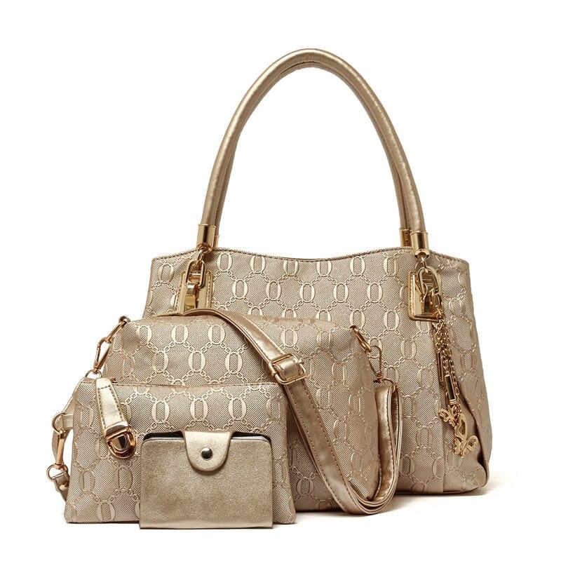 New Arrival 4 Pieces font b Set b font Messenger Bag Women s Bags Shoulder Large