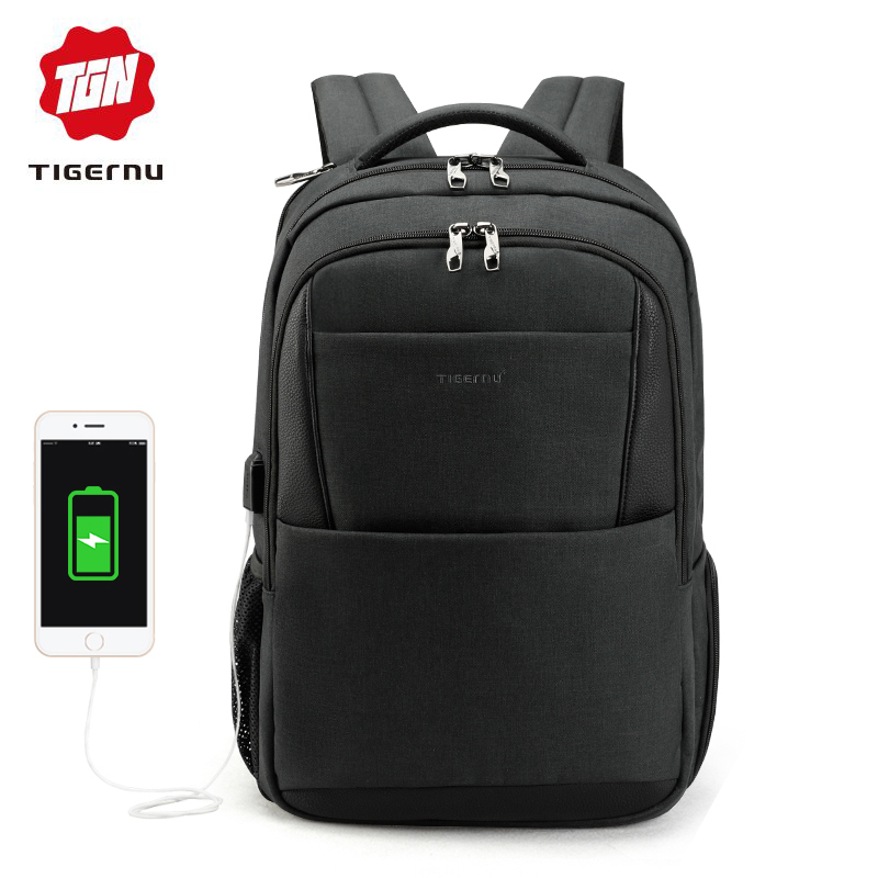 Tigernu brand male mochila 15 6 laptop backpack men usb large travel backpacks slim waterproof anti
