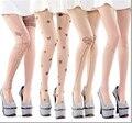 Venda quente 20 estilos das Mulheres Sexy Branco Bonito Padrões de Meias Sem Costura Pura Crotchless Meia-calça