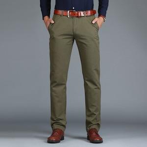 Image 3 - Vomint Pantalones rectos holgados para hombre, pantalón informal, de algodón, a la moda, color verde marrón y gris, 2019