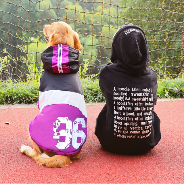 Warm Winter Hooded Coat for Large Dogs