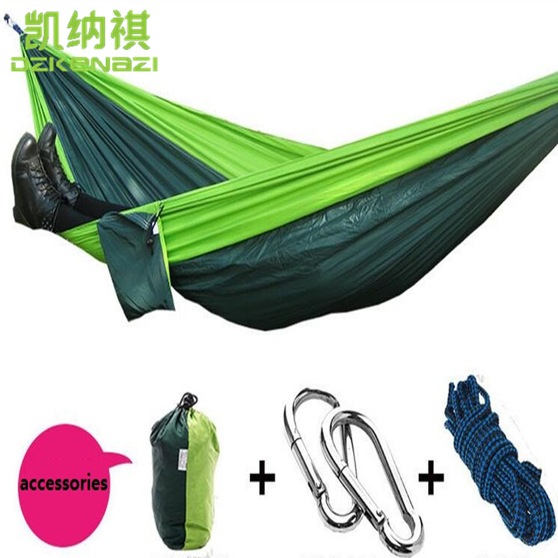 Two-person 260 x 140 CM High Strength Camping 210T Parachute Hammock Hanging Bed worst person ever